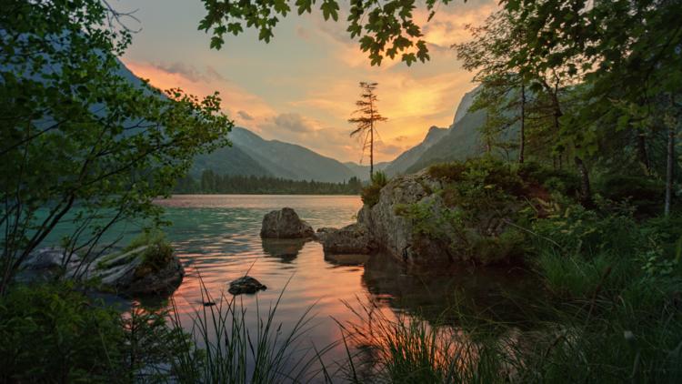 peaceful lake and scenery