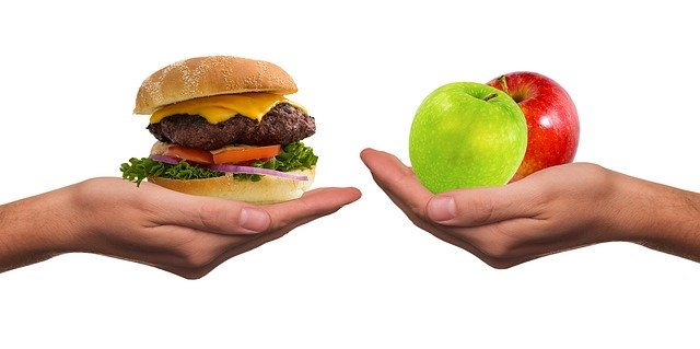 healthy food over fast food
