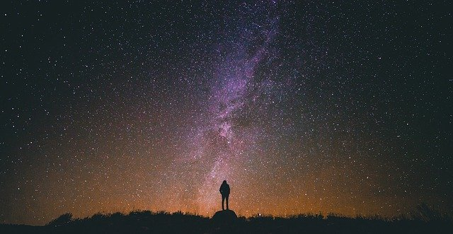 man staring into the night