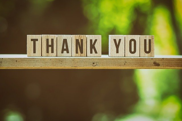 gratitude by saying thank you