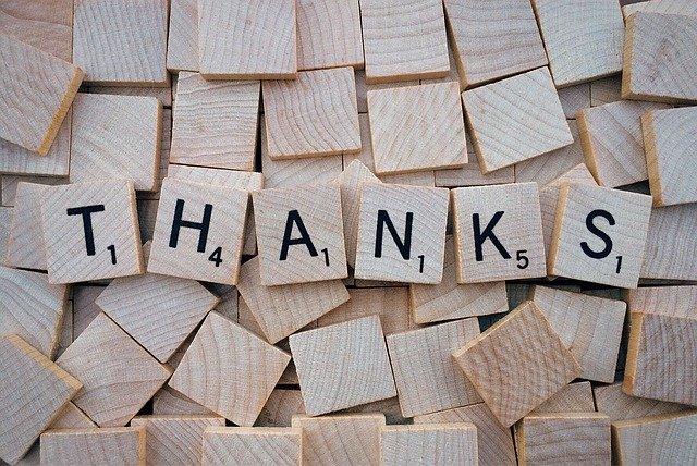 thanks as gratitude