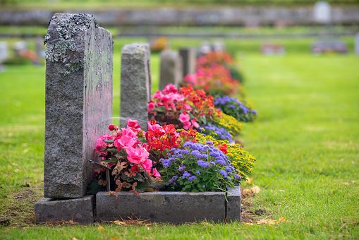 gravestones and funeral