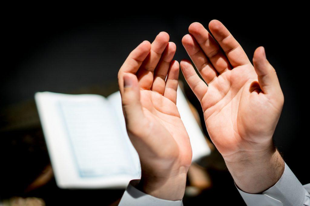 raising hands in dua, duas of prophets