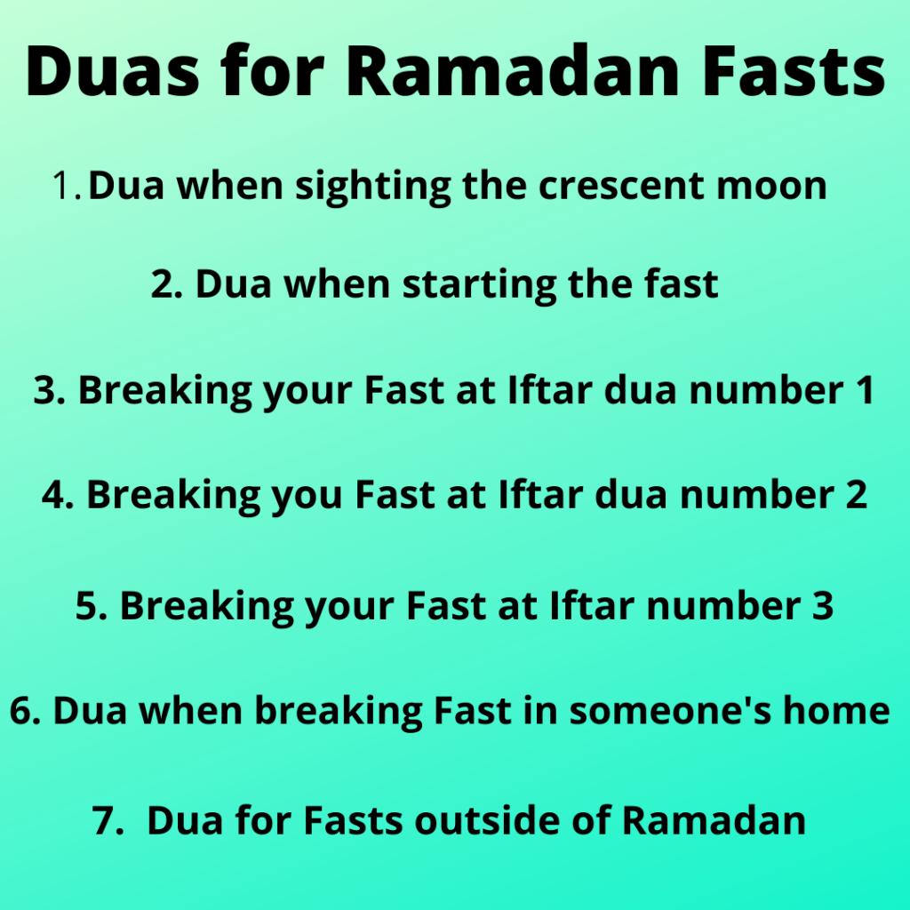 Dua (Prayer) for Fasting in Ramadan