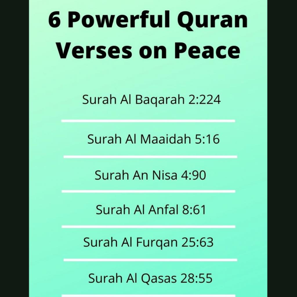 quran verses on peace