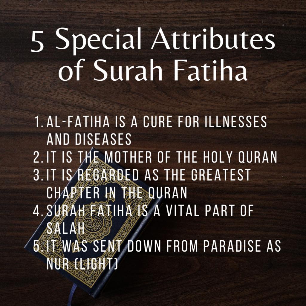 special attributes of surah fatiha